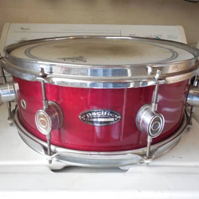 """DW Pacific CX Snare Drum 5x14"""" Wine Color Wood Shelled FREE USA SHIPPING"""