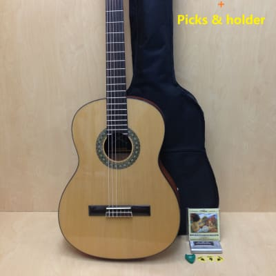 Classical Guitar SCG-978/N Full Size Solid Top Nylon String Pack-Natural for sale