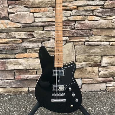 Reverend Descent RA Baritone - Midnight Black, Roasted Maple Neck - AUTHORIZED DEALER for sale