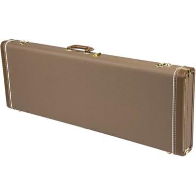 Fender G&G Deluxe Jaguar/Jazz/Toronado/Jag Case Brown Gold Plush Interior for sale