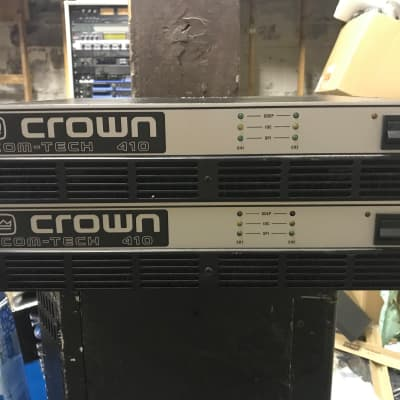 Crown Com-Tech 410 Stereo Power Amplifier 1980's