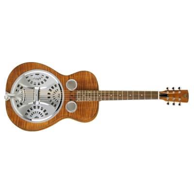 Dobro Hound Dog Deluxe Resonator (Round Neck) for sale