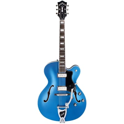 Guild Newark St. Collection X-175 Manhattan Special Malibu Blue Semi-Acoustic Guitar for sale
