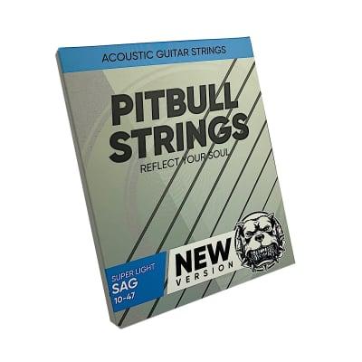 Premium Acoustic Guitar Strings 10-47  Pitbull Strings Silver Series - SAG-SL