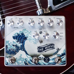 NEW! Foxpedal - The Wave Dual Delay / Reverb / Modulation FREE SHIPPING!