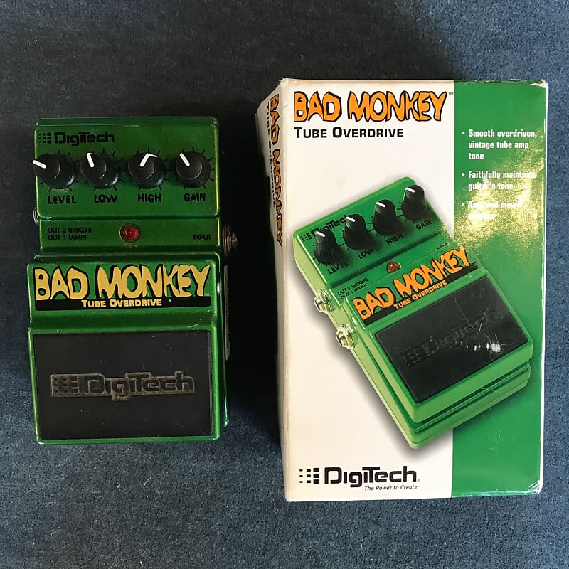 DigiTech DBM Bad Monkey Tube Overdrive Effects Pedal w/ Box