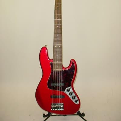 1999 Fender Deluxe Active Jazz Bass V 5-String Candy Apple Red for sale
