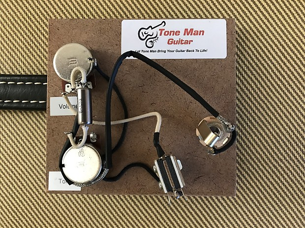 Les Paul Double Cut Wiring Diagram : Guitar upgrade wiring harness kit fits gibson special double reverb
