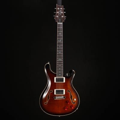 PRS Paul Reed Smith SE Hollowbody II Piezo, Black Gold Burst 252 6lbs 4.9oz for sale