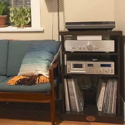 Sanctus Sound Record Player Console with LP Storage +PLUS Various