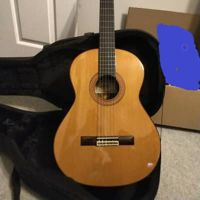 Alhambra Almansa 435 Classical Guitar with case, solid cedar top, made in Spain for sale