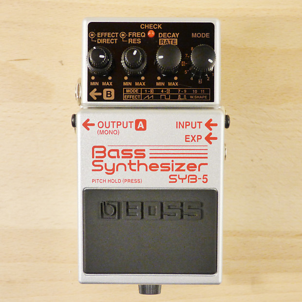 Guitar Synth Pedal >> Boss Syb 5 Bass Synthesizer Pedal Bass Or Guitar Synth Reverb
