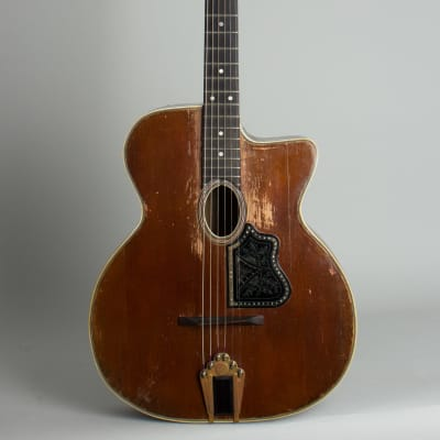 Busato  Grand Modele Gypsy Jazz Acoustic Guitar,  c. late 1930's, tweed hard shell case. for sale