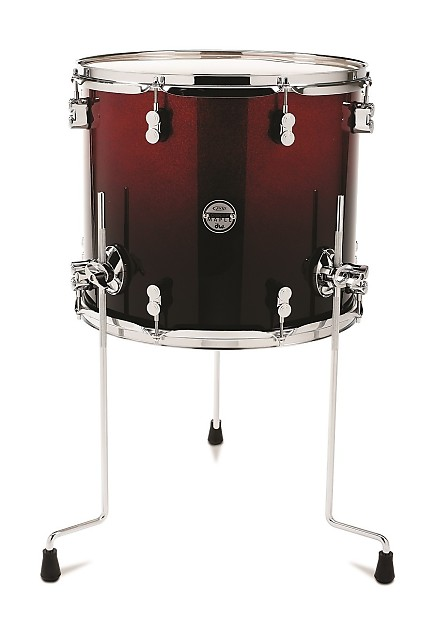 Pdp concept maple red to black fade tom 16x18 reverb for 14x16 floor tom