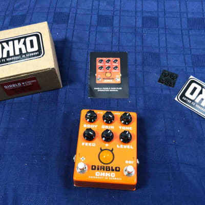 OKKO Pedals Diablo Plus Dynamic Overdrive Guitar Effect Pedal in Original Box for sale