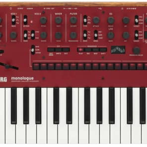 Korg Monologue Monophonic Analogue Synthesizer - Red
