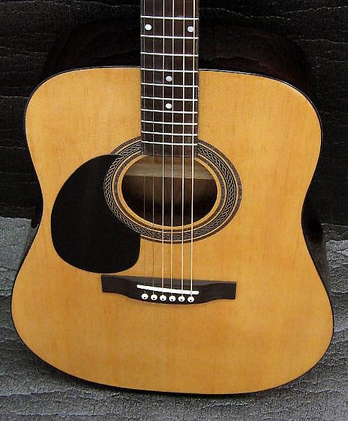johnson lefty acoustic guitar dreadnought six string left reverb. Black Bedroom Furniture Sets. Home Design Ideas