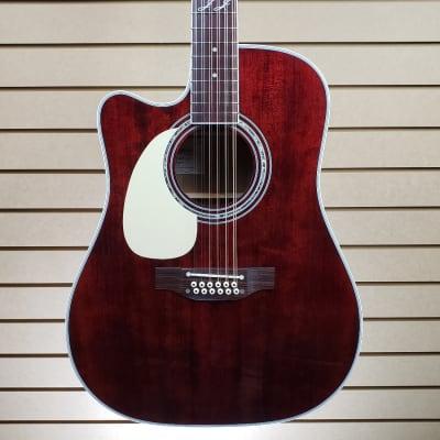 Takamine JJ325SRC Signature Series John Jorgenson Model 12-String Cutaway Acoustic/Electric Guitar Dark Gloss Stain Natural