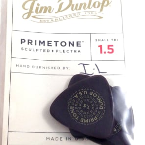 Dunlop Guitar Picks | 3 Pack | Primetone Small Tri Hand Sculpted Smooth | 1.5mm