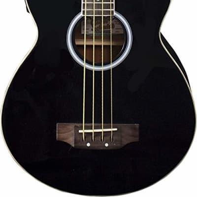 Oscar Schmidt OB100B-A-U 4-String Acoustic-Electric Bass with Gig Bag - Black for sale
