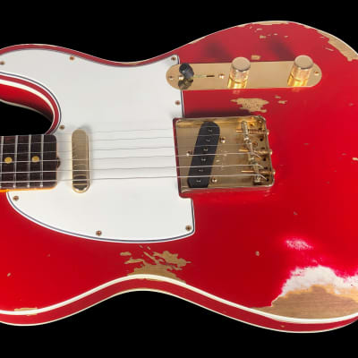2019 Fender Telecaster 1960 Custom Shop '60 Tele Heavy Relic ~ Dakota Red with Gold Hardware for sale