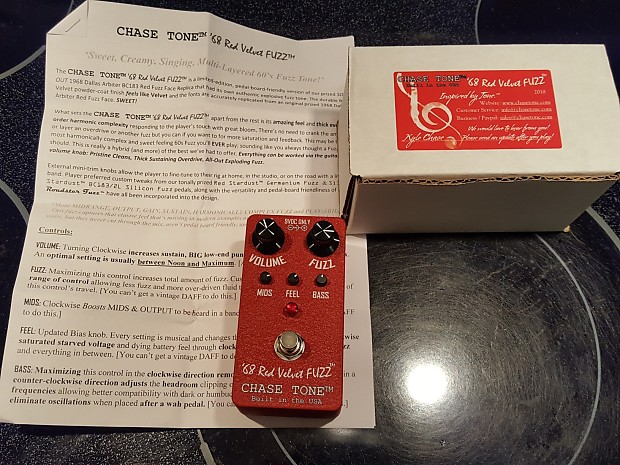 Chase Tone '68 Red Velvet Fuzz 2018 Red | Nick in Guitars