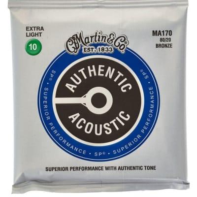 Martin MA170 Authentic Acoustic SP 80/20 Bronze Pour Guitare Acoustique Folk - Extra Light (10 - 47)