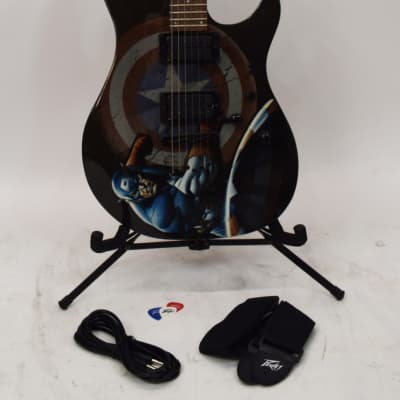 Peavey MARVEL Captain America Predator Electric Guitar w/ Picks, Strap and Cable for sale