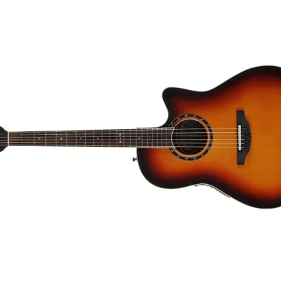 Ovation Legend Series Left-Handed Mid Depth Acoustic Electric Guitar New England Burst  L771AX-NEB for sale