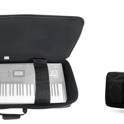 Rockville 61 Key Padded Rigid Durable Keyboard Gig Bag Case For KORG X3