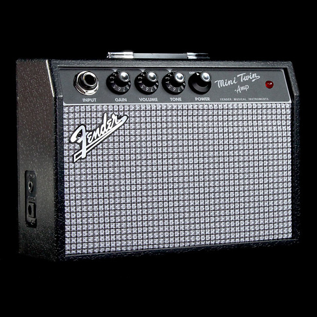 fender mini 39 65 twin amp guitar combo amplifier reverb. Black Bedroom Furniture Sets. Home Design Ideas
