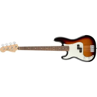Fender Player Precision Bass Left Hand 3 Tone Sunburst Pau Ferro for sale