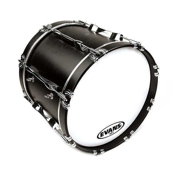 evans bd18mx1w mx1 white marching bass drum head 18 reverb. Black Bedroom Furniture Sets. Home Design Ideas