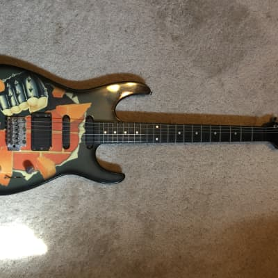 Rockster super strat style (great 80's graphics) for sale