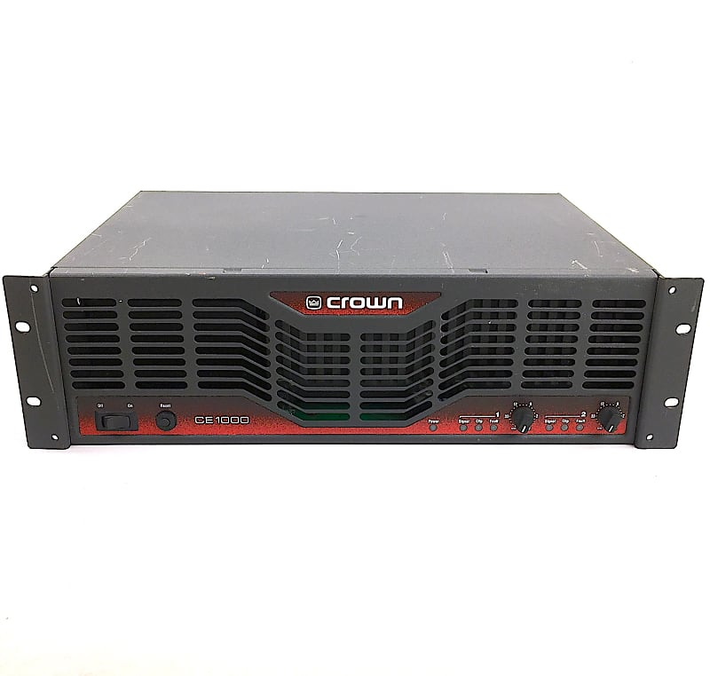 crown ce1000 power amplifier factory reconditioned reverb. Black Bedroom Furniture Sets. Home Design Ideas
