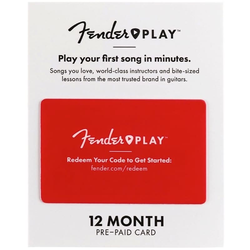 reverb gift card fender play subscription gift card 12 month zzounds 8221