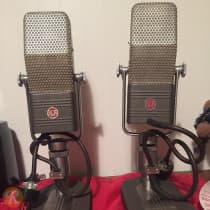 RCA 44-BX Ribbon Microphone (Pair) 1940s Umber Gray image