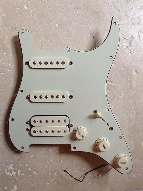 Fender USA Deluxe HSS loaded Stratocaster pickguard 2001 Mint Green -  Vintage Noiseless & DH1 - Victoria BC CANADA