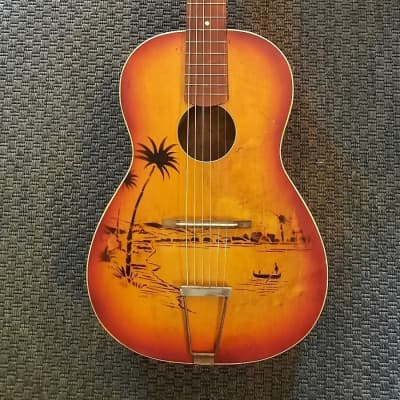 Perlgold  Parlor  1950iger  Hawaiian Stencil Sunburst for sale