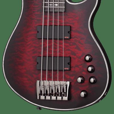 Schecter Hellraiser Extreme-5 Crimson Red Burst Satin