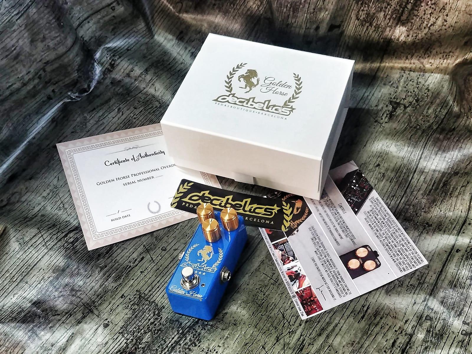 Decibelics Golden Horse Professional Overdrive - Azure Blue  Edition - May Preorder