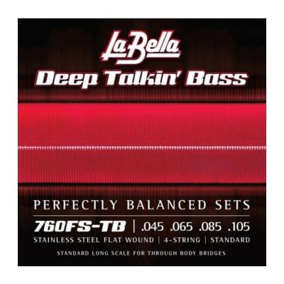La Bella Deep Talkin' Flatwound Bass Strings 760FS-TB 45-105