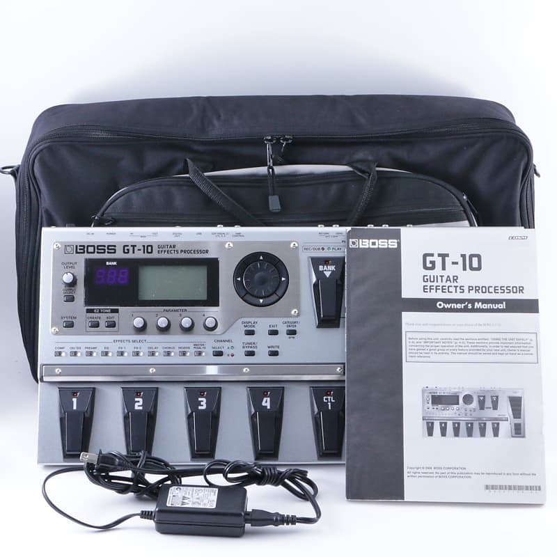 boss gt 10 guitar multi effects pedal w power supply reverb. Black Bedroom Furniture Sets. Home Design Ideas
