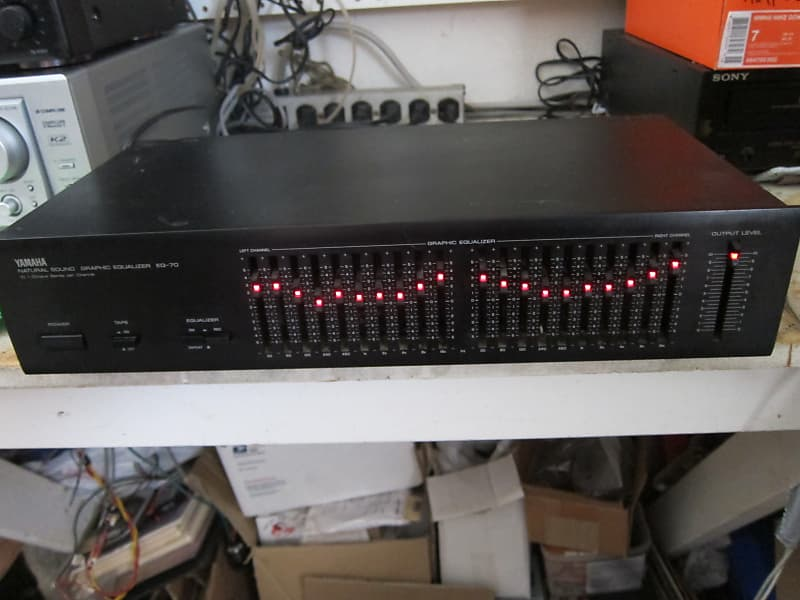 Yamaha EQ-70 20 Band Stereo Equalizer, Natural Sound, Back Lit Controls,  120/220 Volt, Ex Sound, JAP