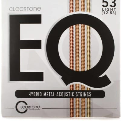 Cleartone EQ Hybrid Metal Acoustic Strings Light 12-53