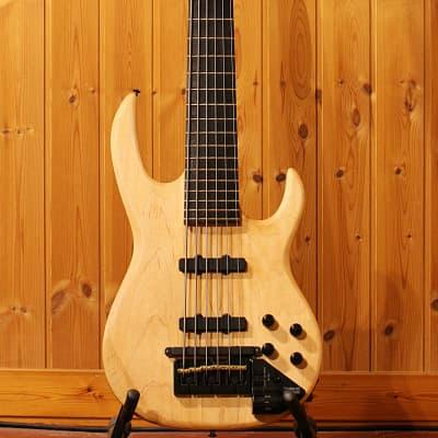 Carvin LB-76 1992 Natural Oil Finish Custom Shop 6 String Bass MIDI Roland GK2B for sale