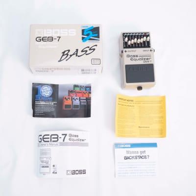 Boss GEB-7 Bass Equalizer   original box & dox