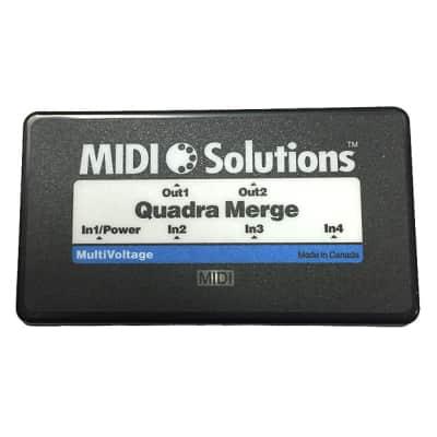 MIDI Solutions Quadra Merge 4-Input MIDI Merger Box