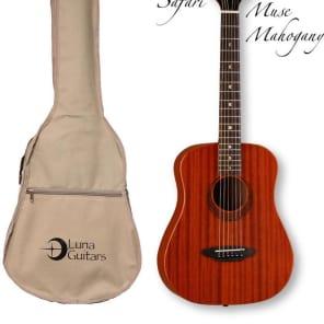 Luna Safari Series Muse Mahogany 3/4-Size Travel Acoustic Guitar - Natural, SAF MUS MAH for sale