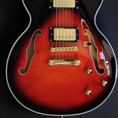 Bootlegger Guitar DeVille Flamed Maple Red Burst w/Case for sale